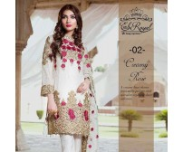 Front and back full Heavy Embroidered Daman Suit