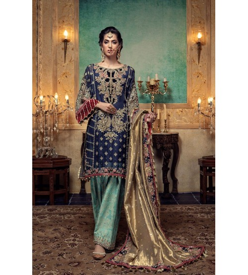 Fancy Embroidered Chiffon Suit