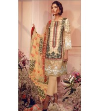 Lawn With Chiffon Dapata Front Fully Embroidered