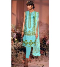 Lawn With Chiffon Dapata Front  Embroidered