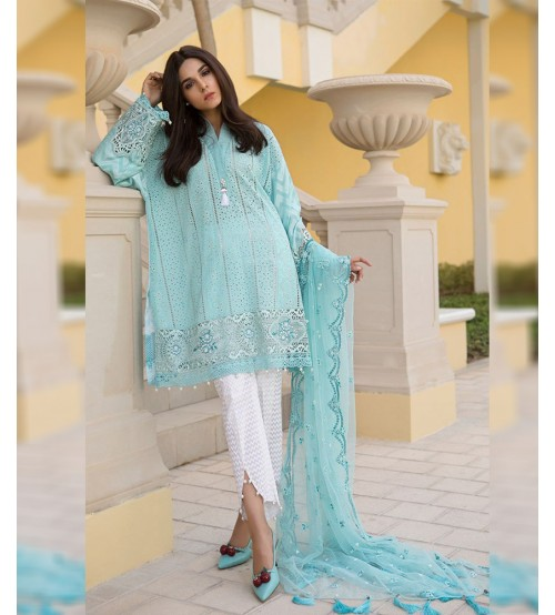 Lawn Suit With Fancy Brosha Dupatta
