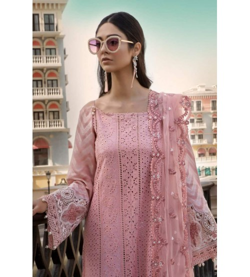 Lawn With Fancy Brosha Dupatta Front Fully Embroidered
