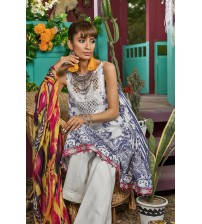 Lawn With Chiffon Dupatta For Women