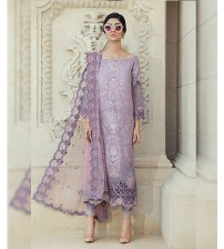 Lawn Suit With Brosha Dupatta Printed Trouser