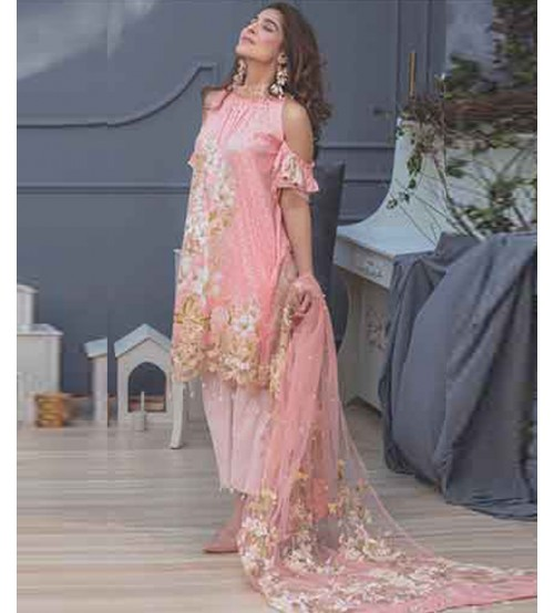 Lawn With Fancy Brosha Dupatta