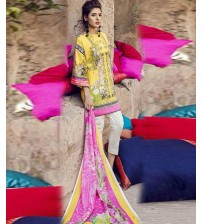 Yalow Embroidered Lawn Suit