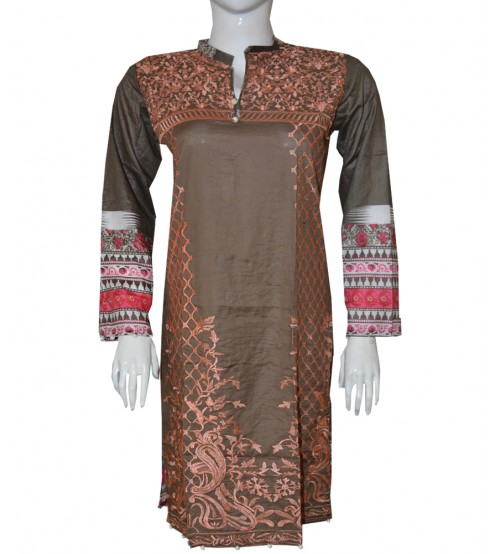 Neck Embroidered Lawn Kurtis Spring Summer