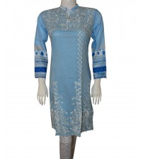Lawn Kurtas For Girls Neck Embroidered