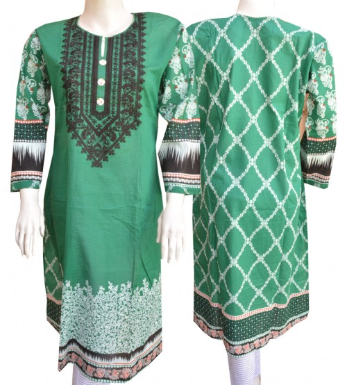 Lawn Kurtas For Ladies Neck Embroidered