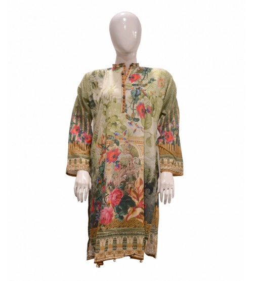 Multicolor Lawn Digital Print Kurti for Women