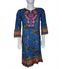 Neck Embroidered Lawn Kurta Spring Summer