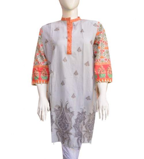 Back Full Printed Lawn Kurta