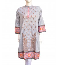 Lawn Kurta For Women Neck Embroidered
