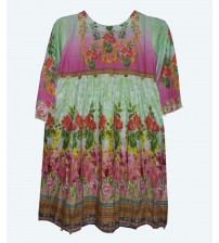 Beautiful Lawn Kurta For Girls Full Printed