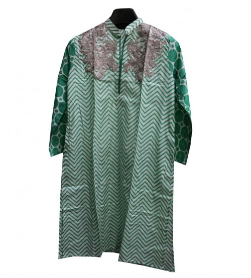 Green Lawn Stitched embroidered Kurta