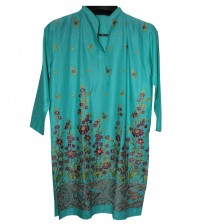 Zink Lawn Stitched embroidered Kurta