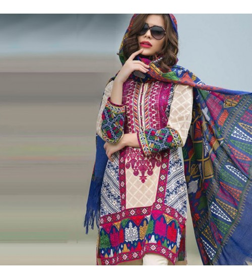 Printed Beautiful Lawn Suit Unstiched