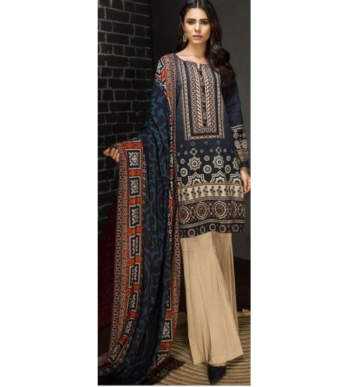 Brand New Lawn Suit With chiffon Duptta