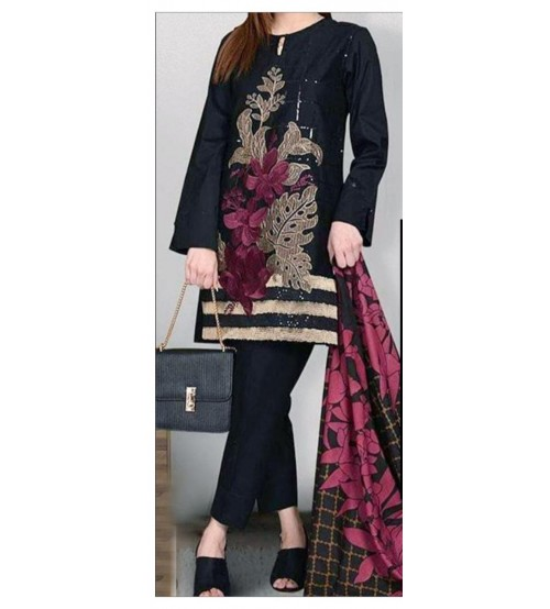 Stylish Lawn Suit With  For Women