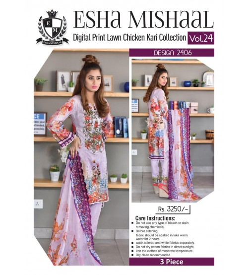 Digital Printed Lawn Suit For Women
