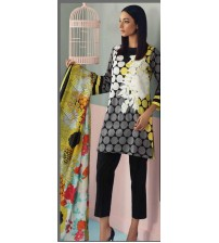 Lawn Suit With Chiffon  Duptta For Women