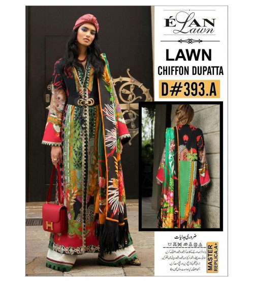 Women Lawn Suit With Chiffon Duppta