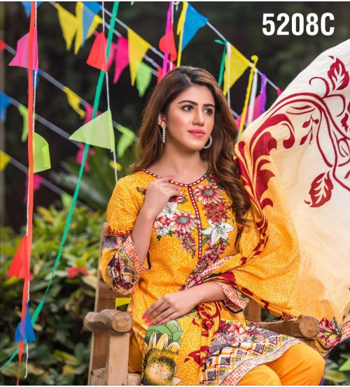 Women Lawn Suit With Lawn Duptta