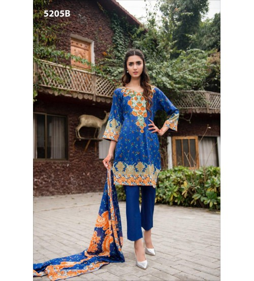 Stylish Lawn Suit With Lawn Duptta