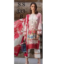 New Lawn Suit With Chiffon Duptta