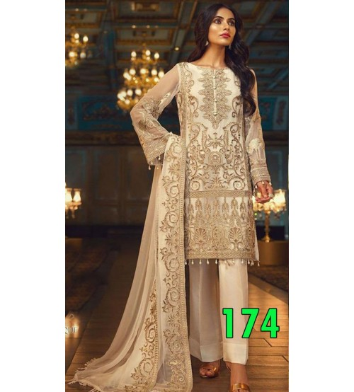 Embroidered Lawn Suit With Lawn Duptta