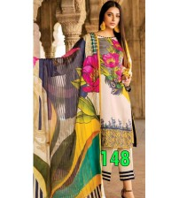 Lawn Suit With Chiffon Duptta