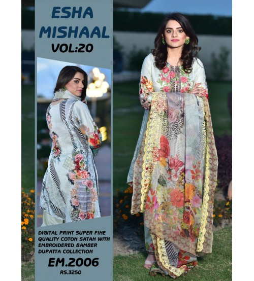 Stylish Digital Printed Lawn Suit For Women