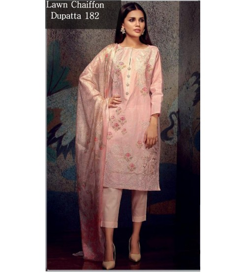 Fully Embroidered Suit In  Lawn For Women