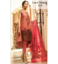Lawn Suit With Lawn Duptta For Women