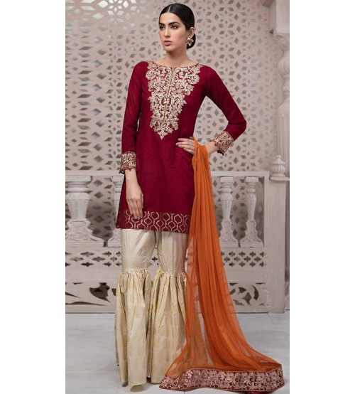 Stylish Lawn Suit With Chiffon Duptta  For Women