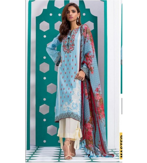 Swiss Lawn For Women With Chiffon Duptta