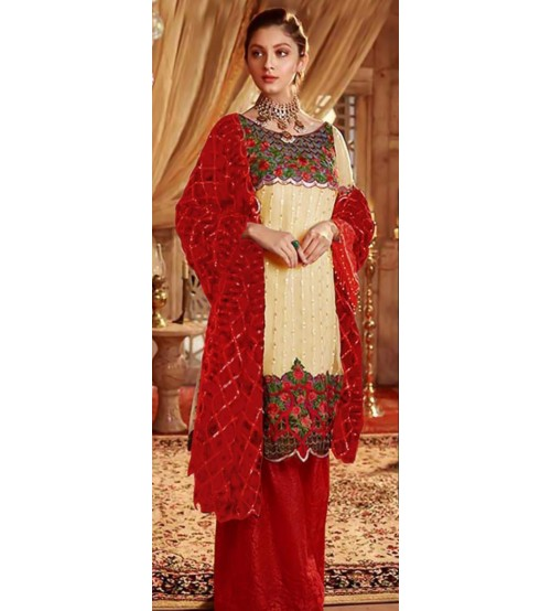 New Beautiful Embroidered Lawn Unstitched Suit