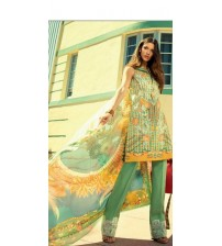 Full Embroided Lawn Suit Unstitched  3 pieces