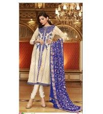 Embroidered unstitched Lawn suit With Chiffon Dapata