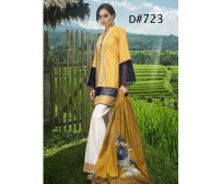 Fully Embroidered Front Lawn Suit With Chiffon DUppata