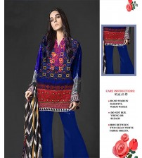 Lawn Embroidered Front Printed Back & Sleeves