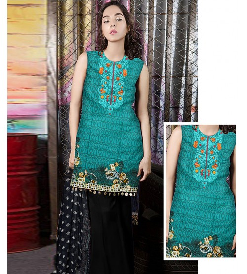 Printed Embroidered Lawn Suit Spring Summer