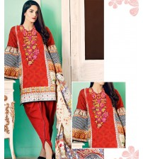 Unstitched Lawn Suit with Shifoon Dupatta Printed & Embroidered.