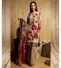 Skin Flower Printed Lawn Suit Summer Collection
