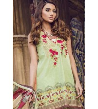 Lawn With Cotton Net  Dupatta Long Neck Embroidered