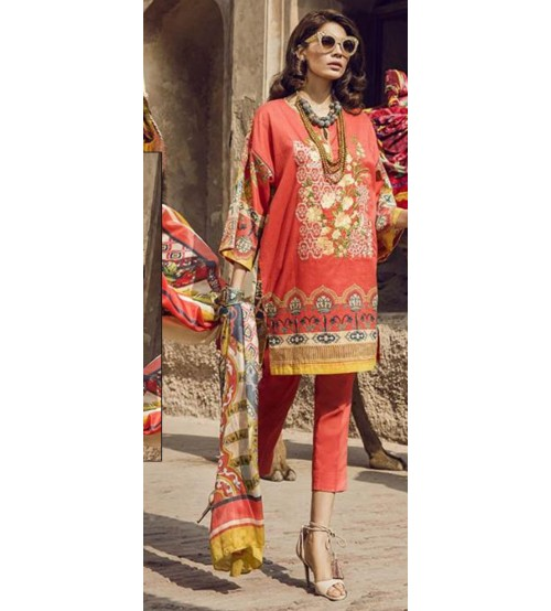 Lawn Suit with Net Dupatta New Summer Collection