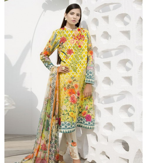 Summer Delight Lawn - 3 Piece Suit