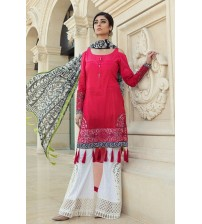 Unstitched Lawn Suit With Chiffon Dupatta