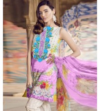 Printed and Embroidered Lawn Suit For Women