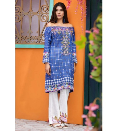 Unstiched Beautiful Lawn Suit